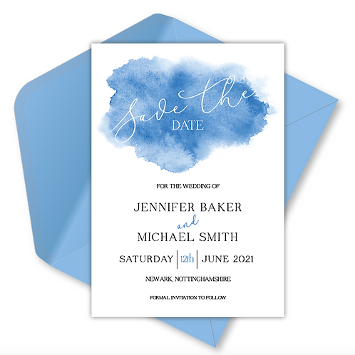 Watercolour Magnetic Save the Date