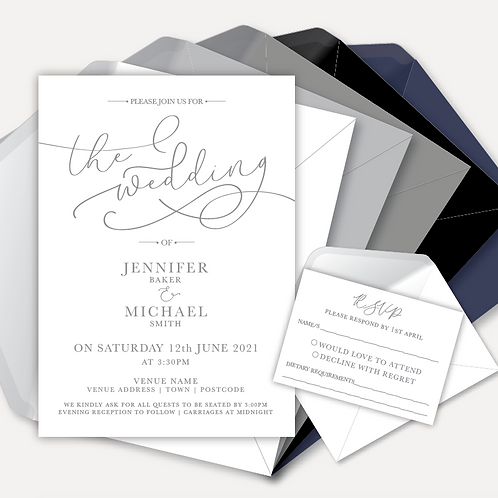 Simplicity Day Invitation & RSVP