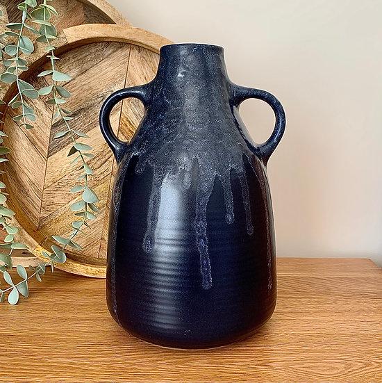Dark Navy Glaze Jug/Vase