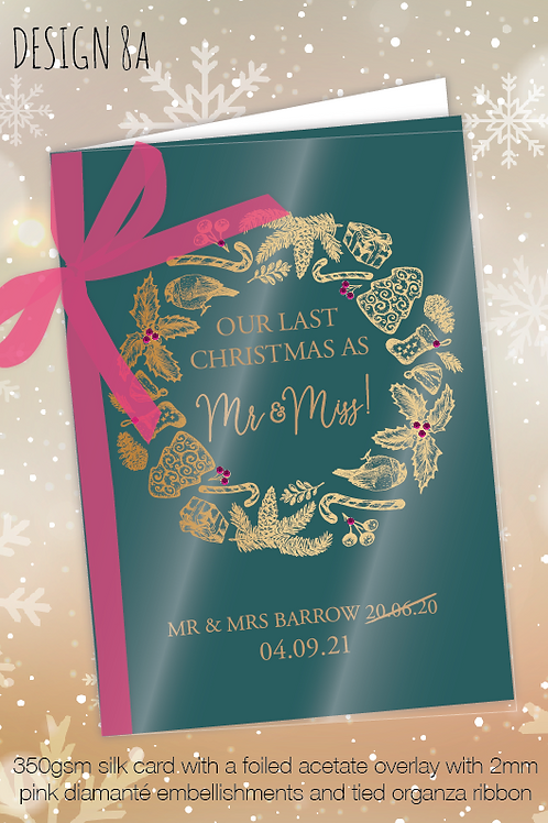 Personalised Christmas Card for Postponed Wedding - Design 8