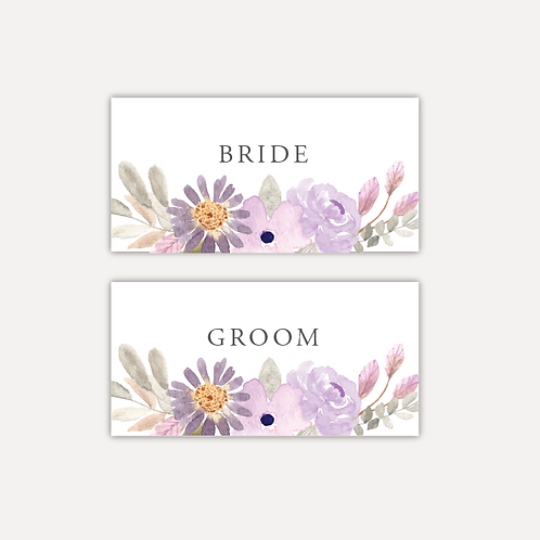 Lilac Bloom Place cards