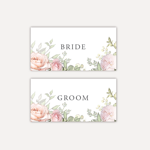 Pink Rose Place cards