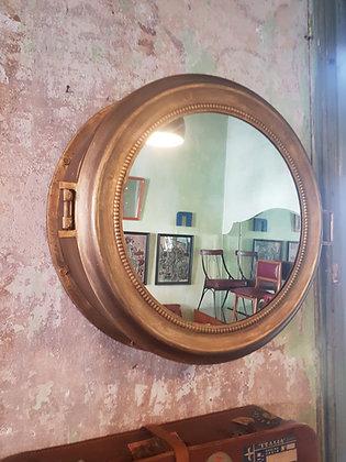 Espejo Botiquín Redondo Dorado