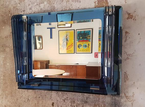 Espejo Vanitory Biselado Azul Art Deco
