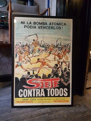 Posters Retro - 'Siete Contra Todos'