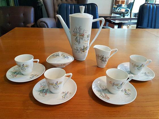 Juego De Café En Porcelana De Bavaria