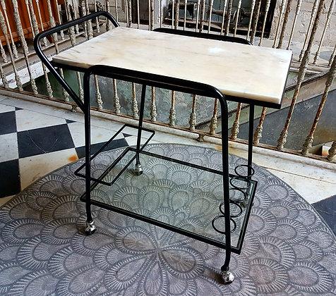 Mesa Bar Rodante 'Vintage / Industrial'