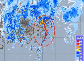千葉の大雨(2019年10月25日)