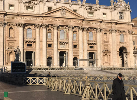 Lockdown in Rome due to Coronavirus-Covid 19