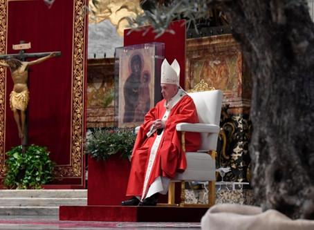 Paus Franciscus vierde vandaag Palmzondag