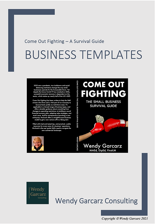 Come Out Fighting - Business Development Forms