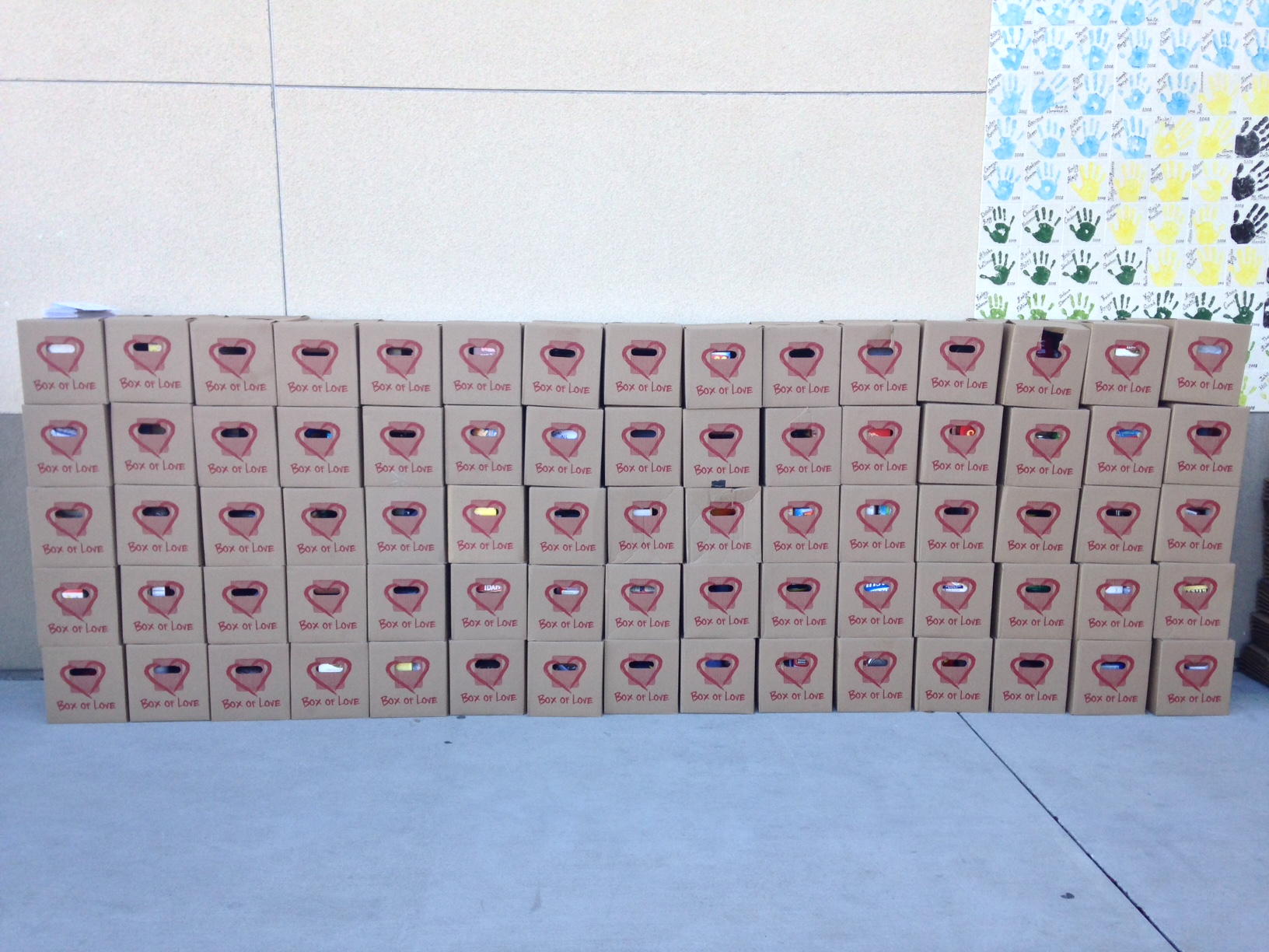 The wall of boxes
