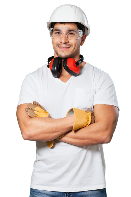Construction Worker Smiling - Canva Pro