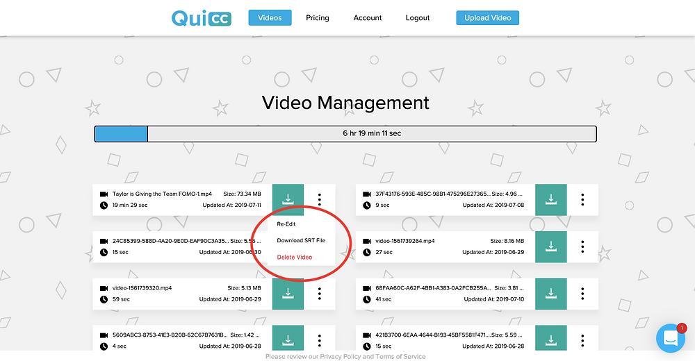 Download QuiCC SRT File