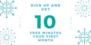 10 free minute trial plan