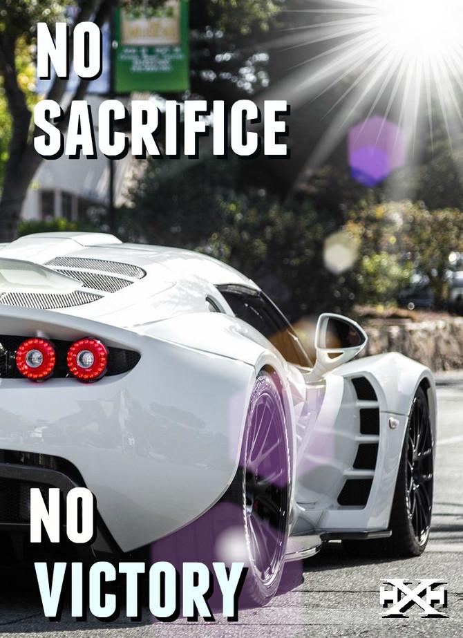 NO SACRIFICE NO VICTORY