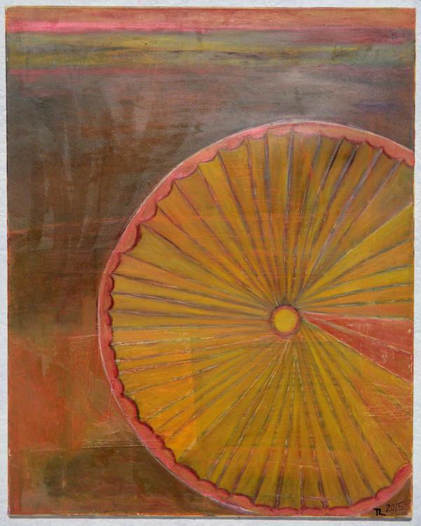 Skříň z ořechu a intarzované slunce