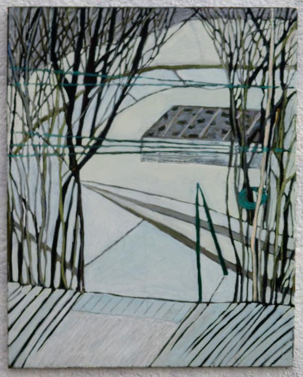 Zahrada na Hřebenkách v zimě