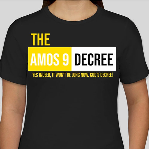 The Amos 9 Decree! + Scripture on the Back