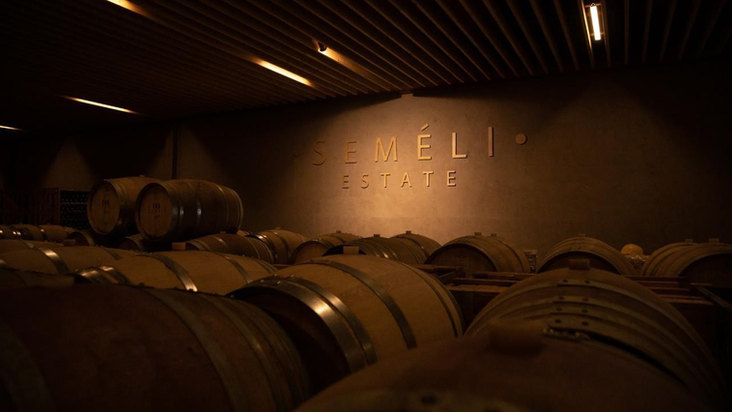 Barrel Room of Semeli Estate