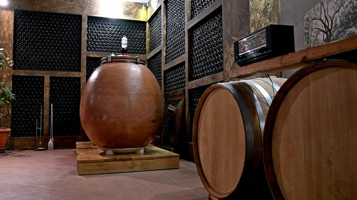 Barrel Room of Ktima Bairaktaris