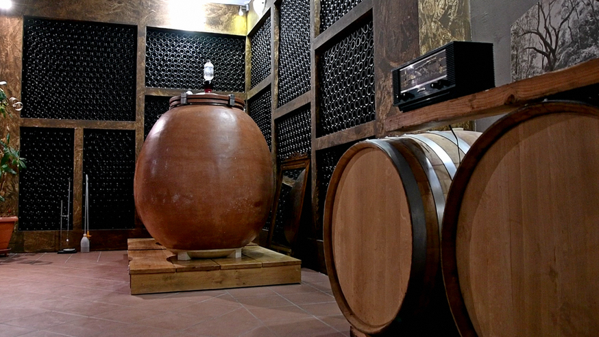 Barrel Room of Ktima Bairaktaris