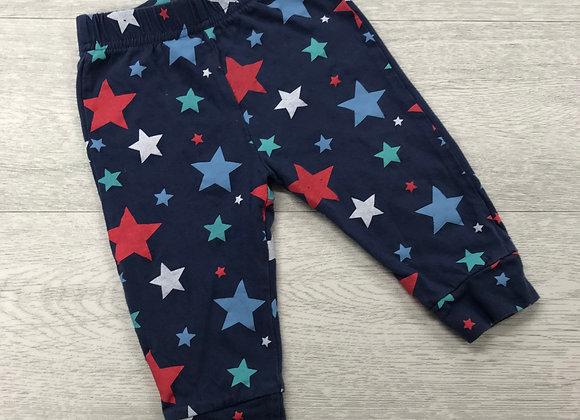 ⚪️BABY blue star print pyjama bottoms. 9-12 months.