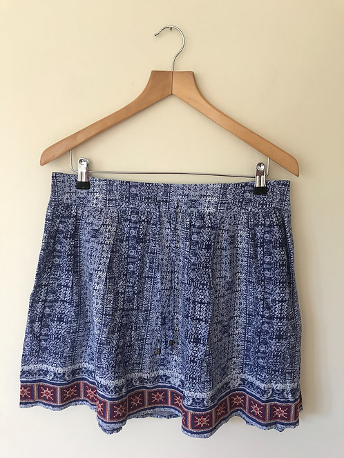⚫️Indigo Collection.Blue patterned skirt. Size 10.