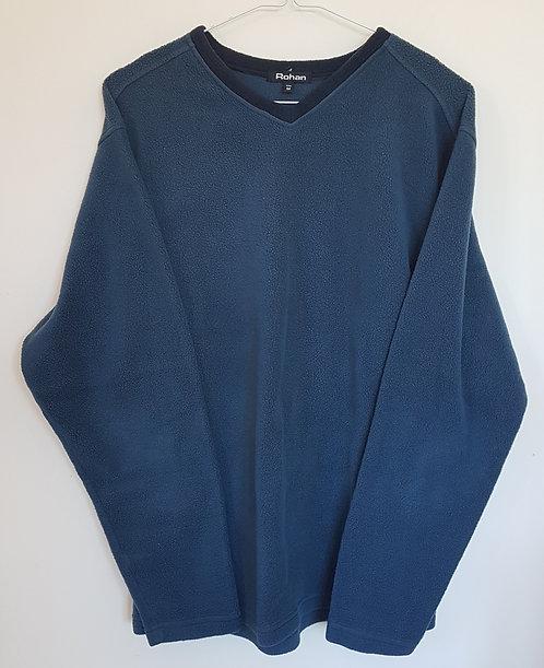 ROHAN. Navy v neck fleece. Size M.