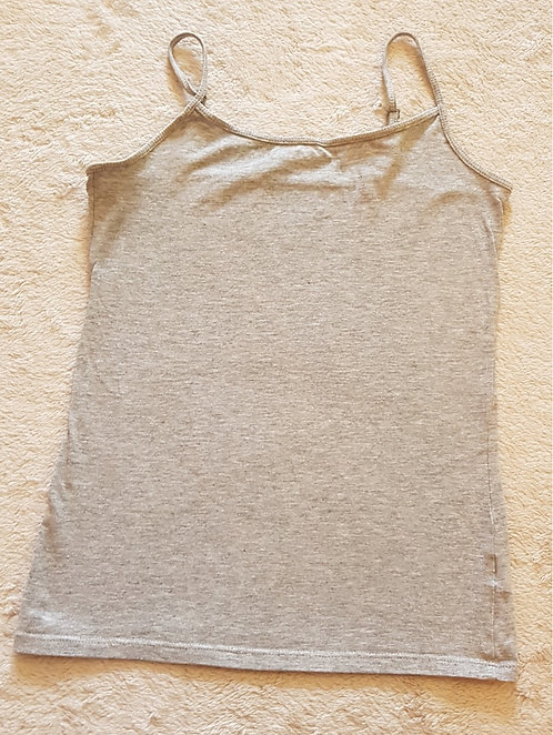 ATMOSPHERE Grey vest top with adjustable straps. Size 10. KEEP AWAY FROM FI