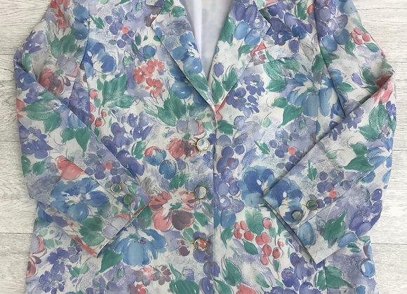 ⚫️ALBENI vintage jacket. 50% viscose 50% Polyester. Dry clean only. Size 18.