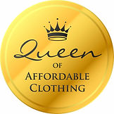 Queen of Affordable clothing badge