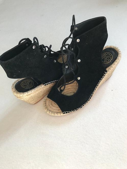 ⚫️KURT GEIGER. Black wedge cut out heel. Wedge heel. Size 38
