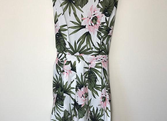 ⚫️DOROTHY PERKINS. White floral dress. Size 10.