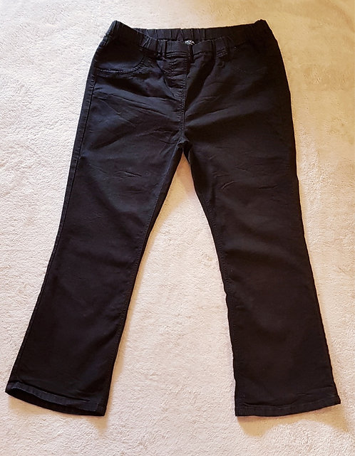MODA AT GEORGE Black boot cut jeans with elasticated waist. Size 20 Short leg.