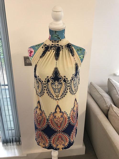 ⚫️Unbranded Greek style halter neck dress. Size 10.