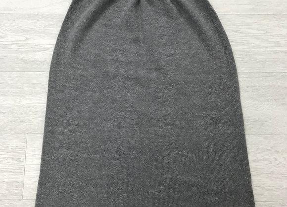 ⚪️DEBENHAMS grey knit midi skirt. Size 12.