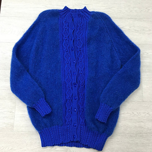 ⚪️Blue knit button up cardigan. Size 18-20.