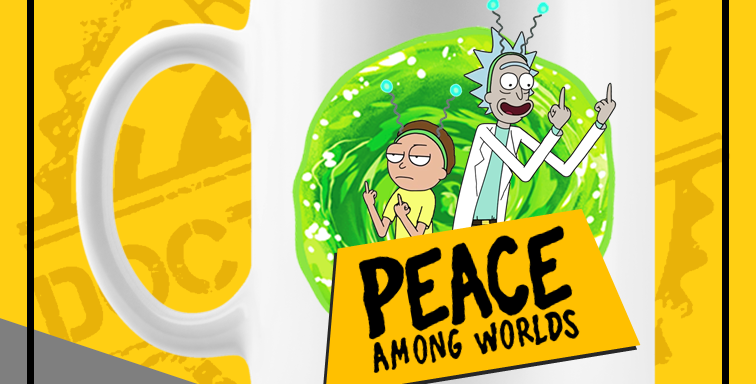Caneca - Rick and Morty: Peace