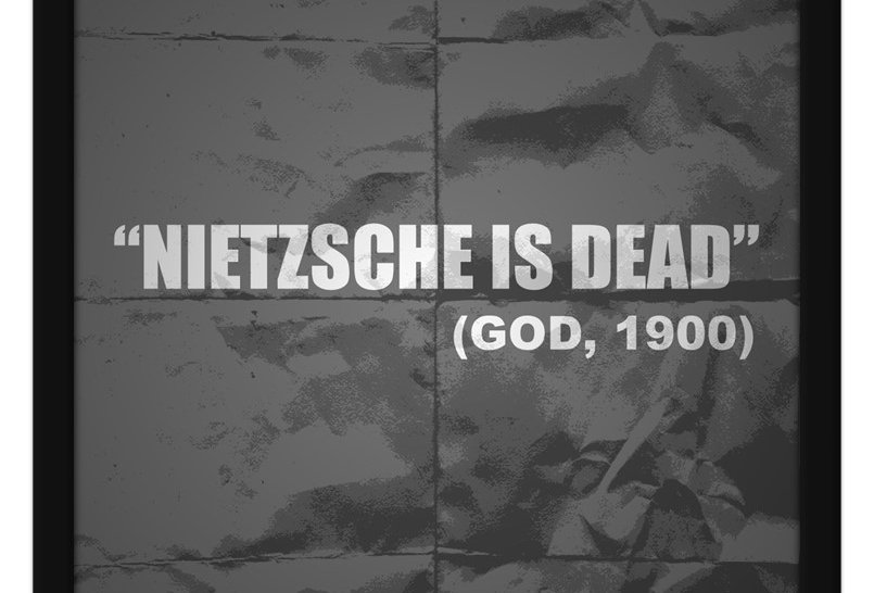 Pôster - Nietzsche está morto