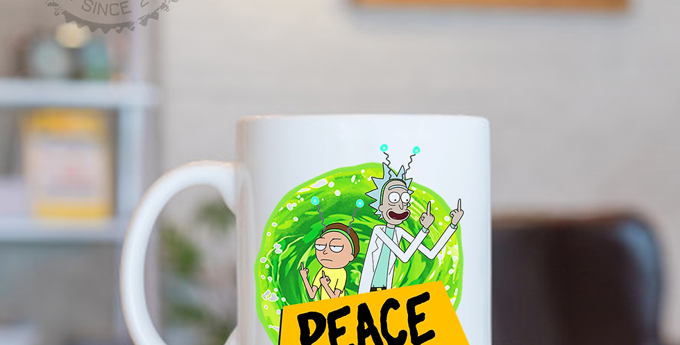 Caneca - Rick and Morty: Peace