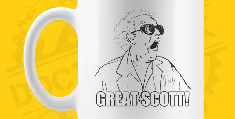 Caneca - Back To The Future: Great Scott