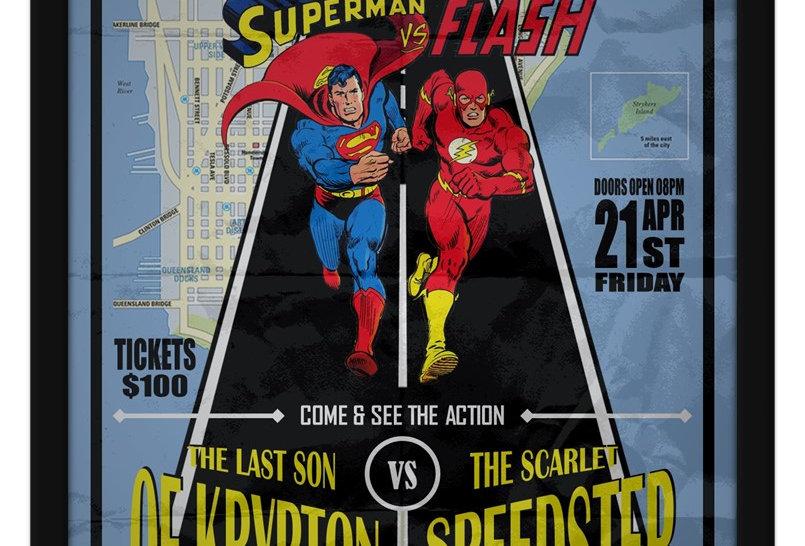 Pôster - Superman vs Flash