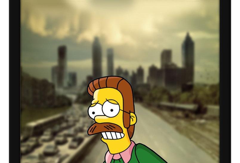 Pôster - Simpsons: Walking Ned