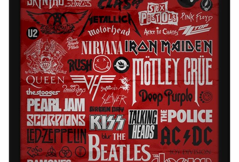 Pôster - História do Rock: Bandas