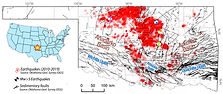 Earthquakes and previously mapped faults in Oklahoma