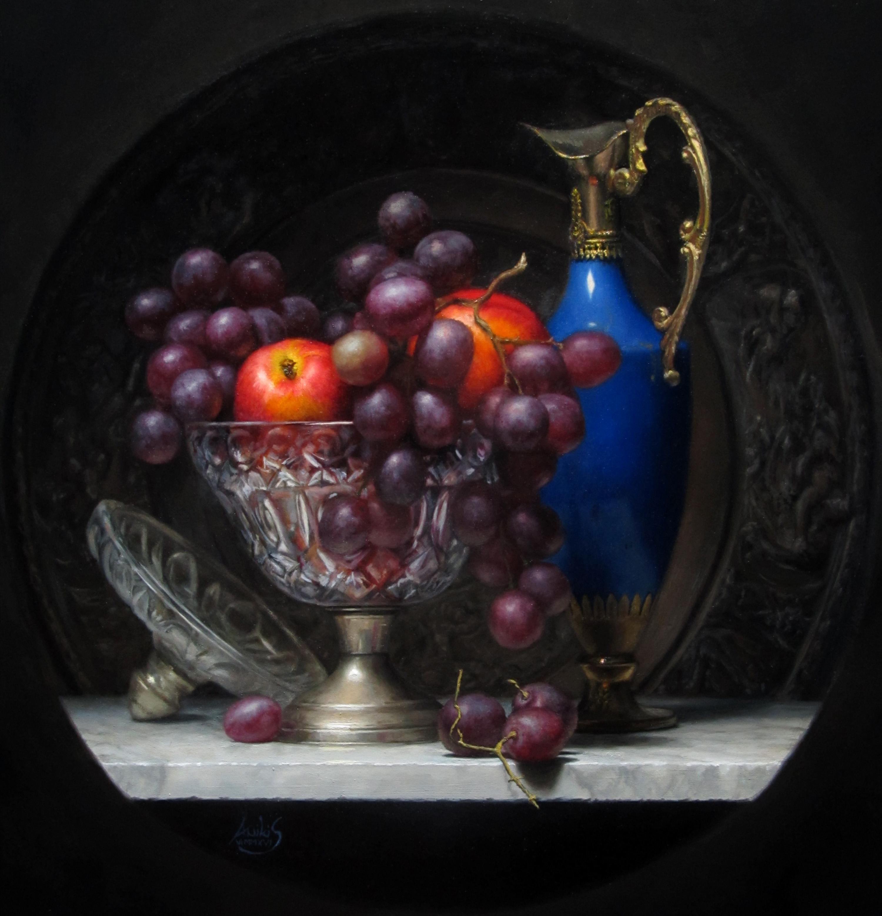 Nik Anikis, Eternal Fruit, oil on canvas, 50x50