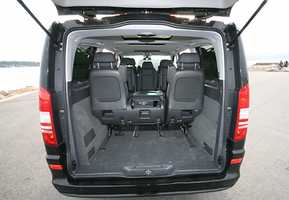 Private chauffeur service wirh large boot for airport transfers and group trips