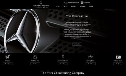 precision chauffeurs website