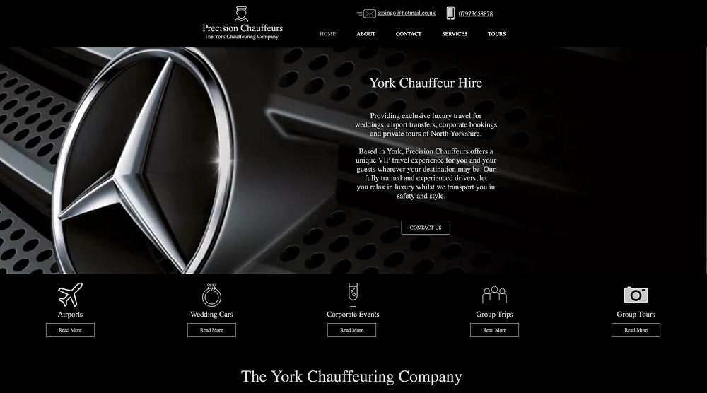 Precision Chauffeurs in York Homepage Photo